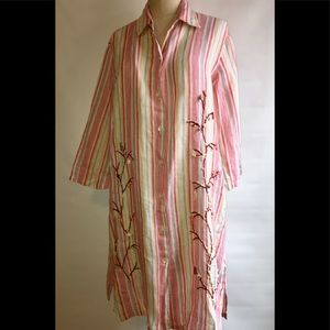 Antica Positano Sartoria Striped Dress Cotton Bead